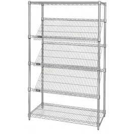 Staitionary Slanted Wire Shelving