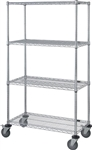 4 Shelf Wire Cart