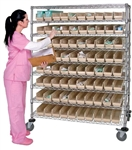 Catheter Cart with bins