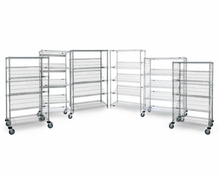Slanted Wire Shelving