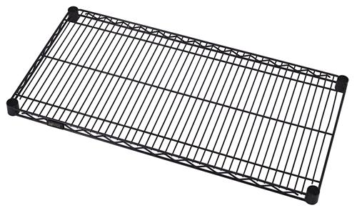 Wire Shelve | 1248bk Black Wire Shelf 12 D X 48 W