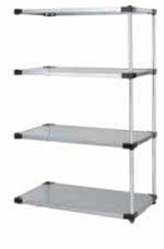 Quantum Galvanized Solid Shelf Add-On Unit
