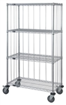 4 Shelf Wire Cart with Rods & Tabs