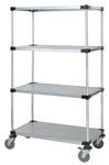 Mobile Cart with 4 solid shelves