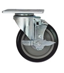 Swivel Plate Caster with Brake