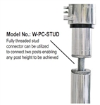 Quantum Post Splicer Stud (threaded stud only)