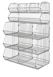Complete Stationary Stacking Basket Unit