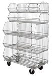 Complete Mobile Stacking Basket Unit