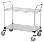 2 Shelf Wire Cart