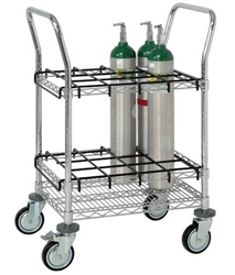 Cylinder Transport/Inhalation Therapy Cart