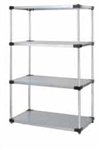 Quantum Stainless Steel Solid Shelf Starter Unit